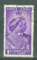 Gilbert & Ellice Islands: 1949   Royal Silver Wedding  SG57   1d    Used - Gilbert & Ellice Islands (...-1979)