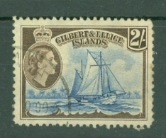 Gilbert & Ellice Islands: 1956/62   QE II - Pictorial    SG72   2/-      Used - Gilbert & Ellice Islands (...-1979)
