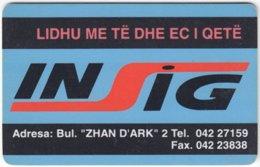 ALBANIA A-002 Chip Telekomi - Advertising - 50 Imp. - Used - Albanie