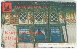 ALBANIA A-064 Chip Albtelecom - Culture, Historic Building - Used - Albanie
