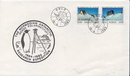 Norvegian Antarctic Reserch Cover - Stamps
