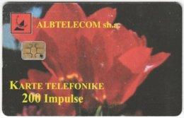 ALBANIA A-072 Chip Albtelecom - Plant, Flower - Used - Albanie