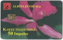 ALBANIA A-074 Chip Albtelecom - Plant, Flower - Used - Albanie