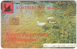 ALBANIA A-081 Chip Albtelecom - Animal, Bird, Duck - Used - Albanie