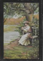 AK 0381  Frank , E. - Träumerei / Künstlerkarte Um 1917 - Malerei & Gemälde
