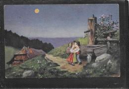 AK 0381  Hoffmann , Ad. - In Der Nacht . Wenn Die Liebe Erwacht ... / Künstlerkarte Um 1918 - Cartes Humoristiques