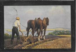 AK 0381  Golz , F. - Pflügender Bauer / Künstlerkarte Um 1917 - Pferde