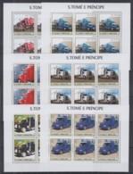 M717. 6x S.Tome E Principe - MNH - 2003 - Transport - Cars - Trucks - Full Sheet - Trasporti