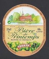 Etiquette De Bière Blonde -  De Printemps  -  Brasserie Terken  à  Roubaix  (59) - Beer