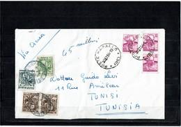 LCTN59/LE/5 - ITALIE LETTRE AVION RAPALLO / TUNIS JUILLET 1964 TAXEE A L'ARRIVEE - 1961-70: Marcophilie