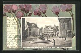 AK Bremen, Marktplatz Mit Wilhadibrunnen, Passepartout - Bremen