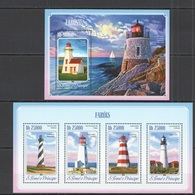 Phare Lighthouse Vuurtoren Leuchttürme Faro Fari TOME & PRINCIPE 2014 NEUF** MNH - Faros