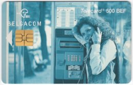 BELGIUM B-524 Chip Belgacom - Communication, Phone Booth - Used - Mit Chip