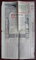 Obligation 4 % Du Royaume De Roumanie . 1929 . - Actions & Titres