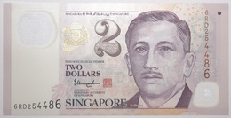 Singapour - 2 Dollars - 2016 - PICK 46k - NEUF - Singapour