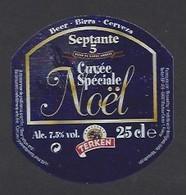 Etiquette De Bière De Noël  -  Cuvée Spéciale Septante 5  -  Brasserie Terken  à  Roubaix  (59) - Beer
