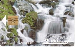 TARJETA DE ANDORRA DE UNA CASCADA (CATARATA-WATERFALL-FALL-CASCADE) - Paisajes