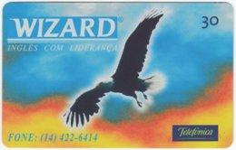 BRASIL K-334 Magnetic Telefonica - Animal, Bird, Eagle - Used - Brasilien