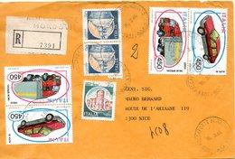 ITALIE. N°1605 De 1984 Sur Enveloppe Ayant Circulé. Camion Iveco. - Vrachtwagens