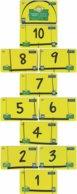 BRASIL K-386 Magnetic Telefonica - Children's Game, Hopscotch - 11 Pieces - Used - Brasilien