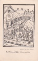 253716Baranowitschi, Zeichnung, Kurt Arendt 1916, Kino: Die Blutige Hand Drama In 5 Akten. 7-10-17 (FELDPOSTKARTE) - Belarus