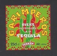 Etiquette De Bière à La Téquila  -  Garimperos  -  Brasserie Terken  à  Roubaix  (59) - Beer
