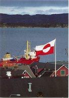 GROENLAND CARTE MAXIMUM DU N°183 DRAPEAU SUR PAYSAGE OBLITERATION GROENLAND PHILEXFRANCE PARIS 7-07 - 17-07-1989 - Cartes-Maximum (CM)