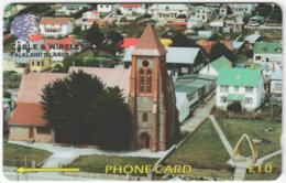 FALKLAND ISLANDS A-123 Magnetic Cable&Wireless - Religion, Church - 195CFKA - Used - Falkland