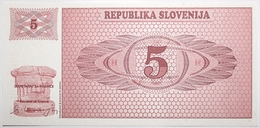 Slovénie - 5 Tolarjev - 1990 - PICK 3a - NEUF - Eslovenia