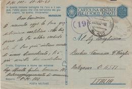 MILITARI -A - SECONDA GUERRA MONDIALE 1939-1945 - POSTA MILITARE N°102 - Oorlog 1939-45