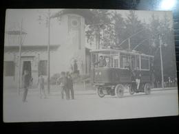 Torino-Tramways Tram (1) Rara Fotografica Ca 1900 Linea Elettrificata Nuova - Trasporti