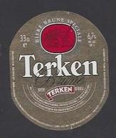 Etiquette De Bière Brune   -  Terken  -  Brasserie Terken  à  Roubaix  (59) - Beer