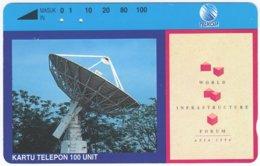 INDONESIA A-528 Magnetic Telekom - Communication, Satellite Dish - Used - Indonesien