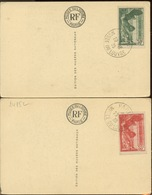 Samothrace Sur Cartes Musée Du Louvre   354 355 - Used Stamps