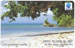 INDONESIA A-568 Magnetic Telekom - Landscape, Coast - Used - Indonesien