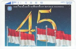 INDONESIA A-578 Magnetic Telekom - Flag Of Indonesia - 100 Units - Used - Indonesien