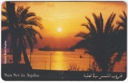 JORDAN A-963 Chip Alo - Landscape, Coast, Sunset - Used - Giordania