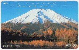 JAPAN E-143 Magnetic NTT [111-031] - Landmark, Volcano, Fujiyama - Used - Japan