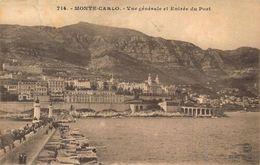 Monaco Monte Carlo General View Entrance Harbour Port Postcard - Other