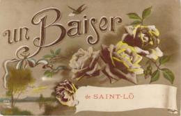 50 MANCHE Carte Fantaisie Au Baiser De Saint-LO - Saint Lo