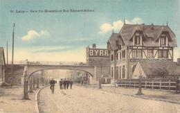62 PAS De CALAIS Gare Sainte-Elisabeth Et Rue Edouard Bollaert  à LENS Pub Murale Byrrh - Lens