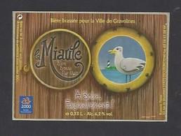 Etiquette De Bière Blonde   -  La Miaule -  Brassée Pour La Ville De Gravelines  -  Brasserie Thiriez à Esquelbecq  (59) - Beer