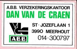 Sticker - A.B.B. Verzekeringskantoor DAN VAN DE CRAEN - St. Jozeflaan MEERHOUT - Autocollants
