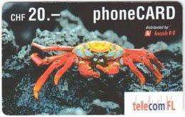 LIECHTENSTEIN A-053 Prepaid TelecomFL - Animal, Sea Life, Fish - Used - Liechtenstein