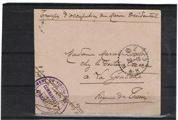 LCTN59/LE/5 - MAROC LETTRE EN FRANCHISE MILITAIRE  FEZ / LA GOULETTE 20/10/1913 - Storia Postale