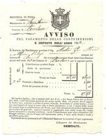CONTE DE NICE .BONSON .CONTRIBUTIONS DIRECTES 1842 .MARTINI GIO MARIA - Historische Dokumente