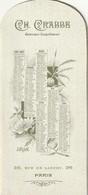 Paris, 36 Rue De Lancry : Superbe Calendrier-paravent Illustré (genre MUCHA) Du Graveur-imprimeur Ch. CRABBE. 1898. - Calendriers