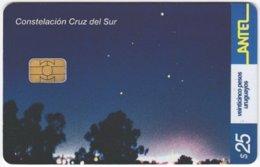 URUGUAY A-448 Chip Antel - Universum, Stars - Used - Uruguay