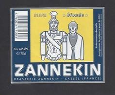 Etiquette De Bière Blonde   -  Brasserie  Zannekin  à  Cassel (59) - Beer