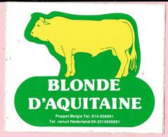 Sticker - BLONDE  D'AQUITAINE - België POPPEL - Autocollants